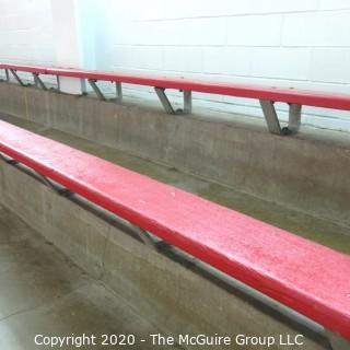 "9"" x 18' Original Wood Bleacher Bench from the Pit."