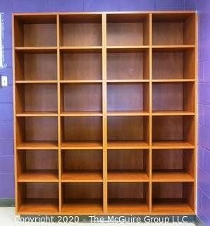 7' x 6' Wooden Cabinet Shelf with 24 Square Cubbies. 2 pieces.