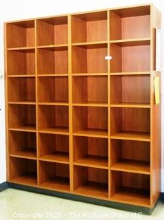 7' x 6' Wooden Cabinet Shelf with 24 Square Cubbies. 2 pieces