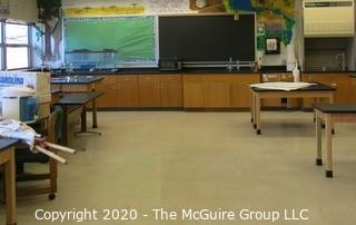 Science Room tables and cabinetry. You must uninstall and remove what you want.