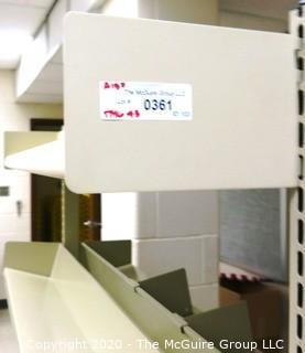 Portable Metal Shelving Unit on Casters