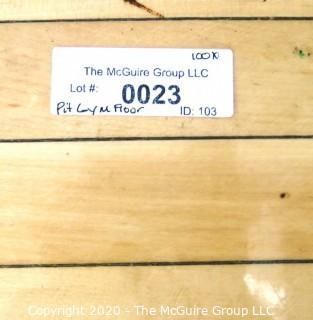 "(1) 2 X 12"" Floor Board from the ""Pit"" Basketball Hard Court. Own a Piece of George Mason Basketball History."