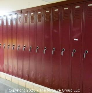 "(35) 9"" x 72"" Metal Combination Lockers."