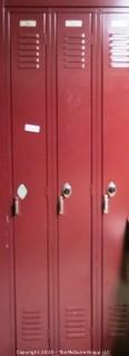 """(32) 9"""" x 72"""" Metal Combination Lockers."""
