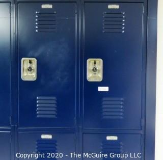 (24) Stacked Blue Metal Combination Lockers