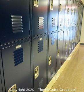 (28) Stacked Blue Metal Combination Lockers