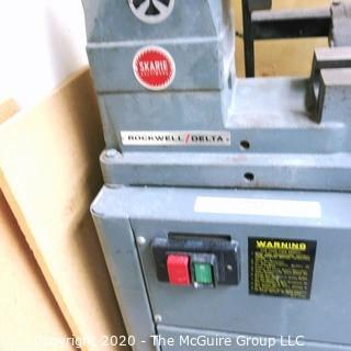 3' Bed Delta Wood Lathe, 3/4HP Rockwell Motor; 110/220v; condition unknown.