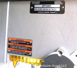 1/2 HP Floor Model Ridgid Drill Press: As Is.