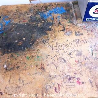 "30 x 72 x 33""T Wood Top/Metal Base Work Table."