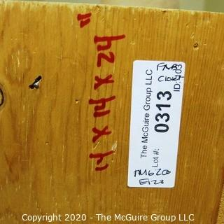 """14 x 14 x 24""""T Wood Crate Storage Container."""