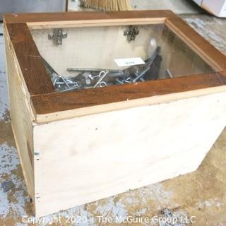 """14 x 14 x 19""""T Covered Wood Crate with contents"""