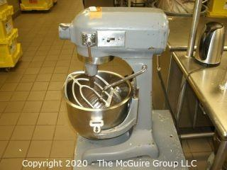 Hobart 3-speed 20 QT Commercial Mixer w/ Whisk, Paddle & SS Bowl on steel platform base