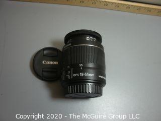 Canon 35mm lens : 58mm EF-S 18-55mm 1:3.5-5.6 IS II screw mount