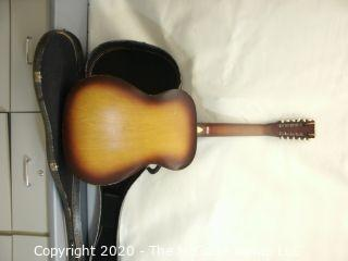 Vintage Made In USA Stella Harmony Model H 913 Acoustic 12 String Guitar.