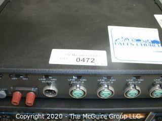 (2) SHURE M267 Vintage 4 Input Professional Microphone Mixer, Limiter.  As is.