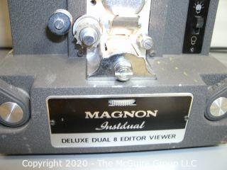Vintage 8mm film editing units,  Academy and Magnon. As is
