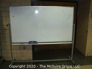 """40"""" x 72"""" board and 70""""T Dual-sided white board on casters"""