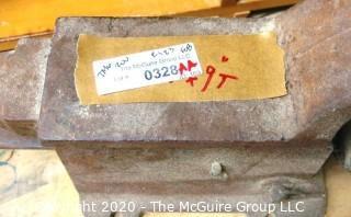 "24""w x 9""t Industrial Cast Iron Vise/Anvil."