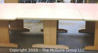 """(3) 42"""" x 60"""" x 29""""t Wood Craft or Project Tables. Can be used together to form one long table."""