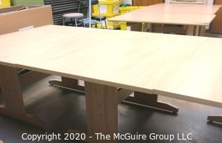 """(3) 40"""" x 60"""" x 30""""t  Wood Craft or Project Tables. Can be used together to form one long table."""