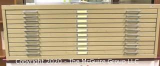 "48"" x 35"" x 16"" Safco Facil Steel (10) Drawer Flat File"