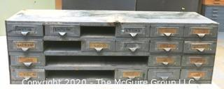"12"" x 33"" x 11""t Vintage Industrial Tool File Chest.  Missing Drawers."