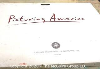 Box of Picturing America National Endowments for the Arts Laminated Posters.