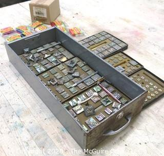 Collection of Art Tools including Metal Stamps