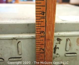Vintage Industrial Metal File Box.  As Is.