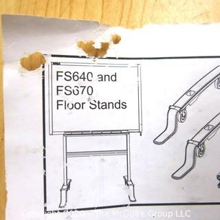 Rolling floor stand kit for white board (not included)