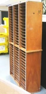 "33"" x 12 x 65""t Flat File Wooden Storage Cabinet."