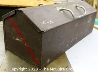 Vintage Metal Kennedy Tool Box with Tools