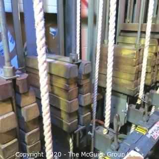 Approximately 150 Cast Iron Stage Counterweights