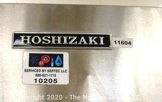 "Hoshizaki KM-350MAJ Slim Line Series 22"" Air Cooled Modular Crescent Ice Machine - 115V; Single Phase; AND Hoshizaki B-900PF 52"" Ice Storage Bin with Galvanized Steel Finish"