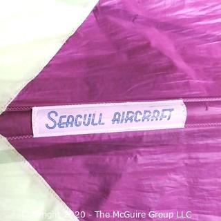 Vintage Purple & Green Seagull Aircraft Hang Glider.  Found on back stage wall.