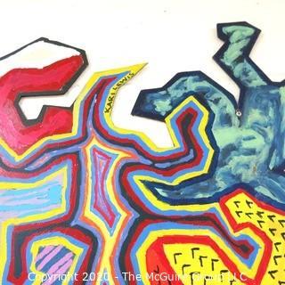 "88 X 42"" Student Art - Acrylic on Plywood"