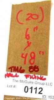"Set of (20) 6"" X 48"" Metal Combination Hall Lockers"