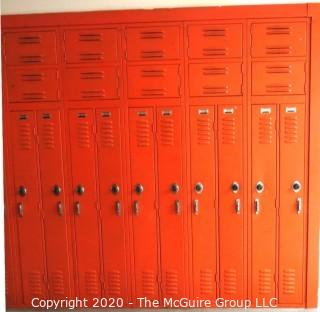 "Set of (24) 6"" X 48"" Metal Combination Hall Lockers"