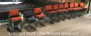 (140) Metal Frame Stackable Chairs Made by MLP Seating Corporation.