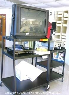TV and DVD Player with Carts