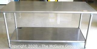 """30 x 72"""" x 35"""" Stainless Steel Prep Table"""