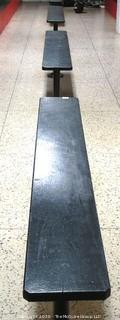 (5) Wooden Locker Room Benches with Metal Pole Bases (Buyer to Disassemble)