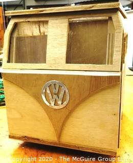 "Student Made VW Bug Little Library Box.  Measures approximately 15"" x 23""x 12.  Opens from Top."