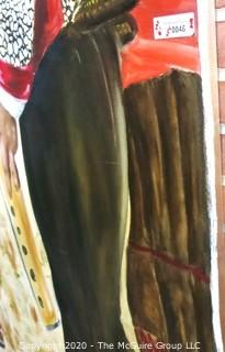 Student Art - Oil on Canvas.  Measures approximately 6' x 8'.