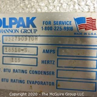 Kolpack Walk In Freezer.  Condenser is on the outside.  Interior measures approximately 21' x 9'.  Description altered on 12/28 at 5:01 EST