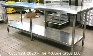 """30 x 96 x 36""""t Stainless Steel Prep Table"""