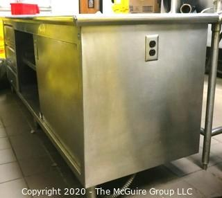 """30 x 80 x 36""""t Stainless Steel Prep Table with Sliding Door Storage"""