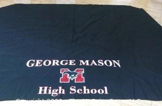 George Mason Table Covering.  Measures approximately 9' x 7'.