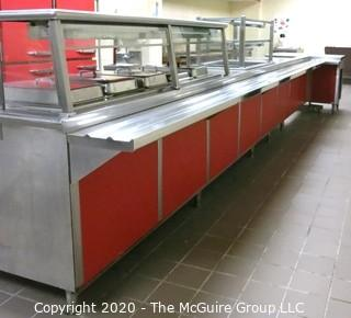 """48 x 132"""" x 37""""t Stainless Steel Serving Line"""