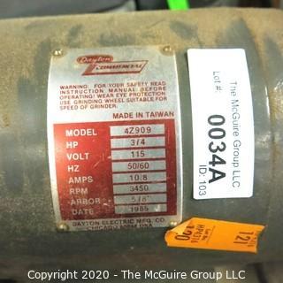 Dayton Commercial 115V Bench Grinder; 3/4 HP